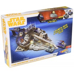 Hot Wheels Star Wars Battle Rollers Star Destroyer Slam & Race Launcher Play Set