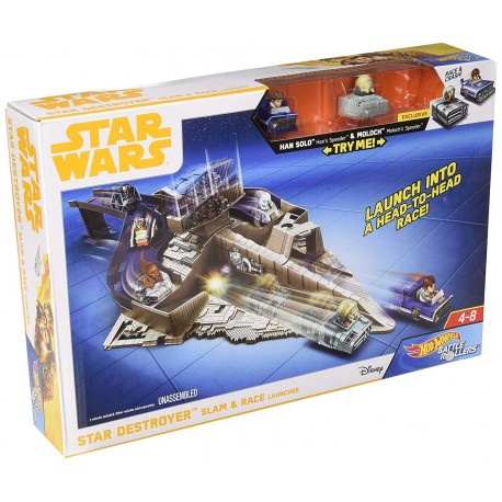 Hot Wheels Star Wars Battle Rollers Star Destroyer Slam & Race Launcher Play Set