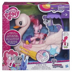 My Little Pony Friendship is Magic Pinkie Pie Row and Ride Swan Boat Set