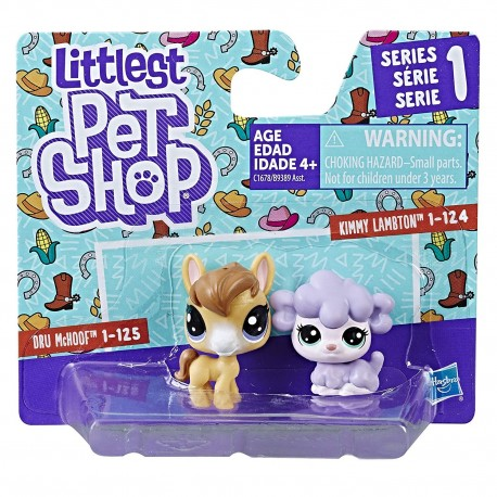 Littlest Pet Shop Mini 2-pack Set of 2 Animals-Dru McHoof and Kimmy Lambton