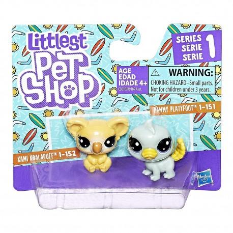Littlest Pet Shop Mini 2-pack Set of 2 Animals-Kami KoalaPuff and Pammy Platyfoot