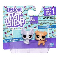 Littlest Pet Shop Mini 2-pack Set of 2 Animals-Pitley Bullbury and Frilly Lepapillon