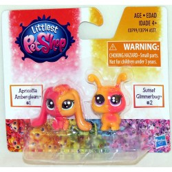 Littlest Pet Shop Apricotta Ambergleam and Sunset Glimmerbug