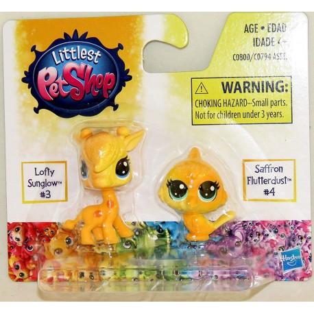 Littlest Pet Shop Lofty Sunglow and Saffron Flutterdust