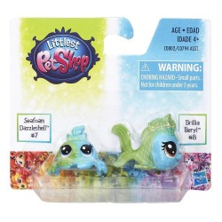 Littlest Pet Shop Seafoam Dazzleshell and Brillia Beryl