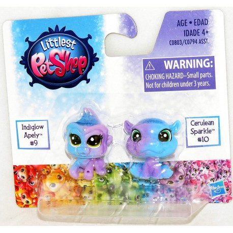 Littlest Pet Shop Indiglow Apely and Cerulean Sparkle