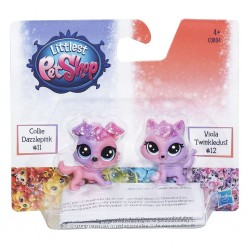 Littlest Pet Shop Collie Dazzlepink and Viola Twinkledust