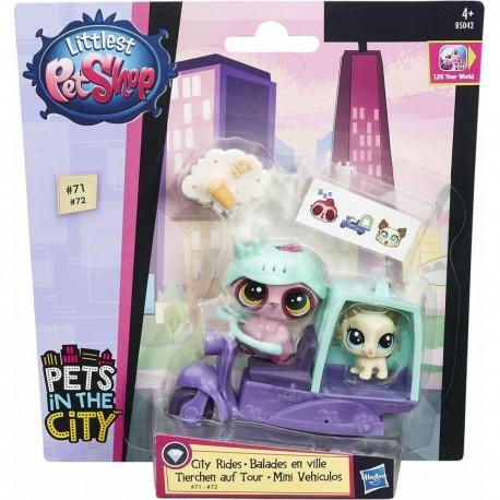 Littlest Pet Shop City Rides - Dreamy Slumberton and Tibsy Apso