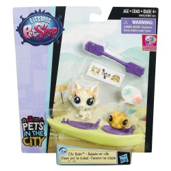Littlest Pet Shop City Rides - Felena PawPaw and Puffery Duffster