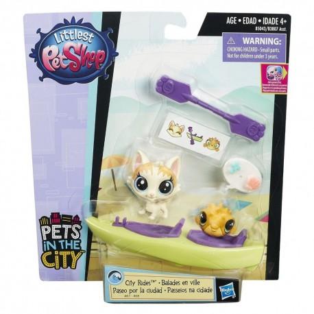 Littlest Pet Shop City Rides - Felena PawPaw and Puffery Duffster