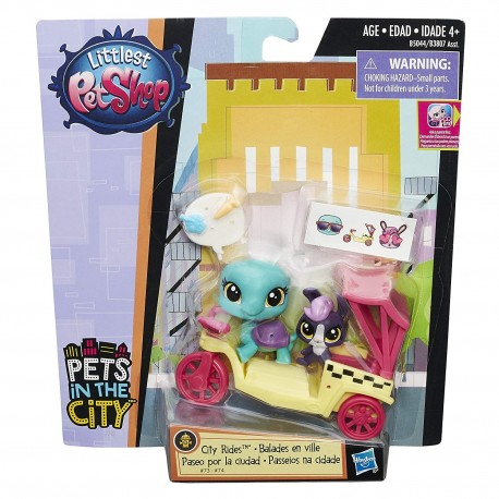 Littlest Pet Shop City Rides - Toodles Tortuga and Lolly Lapinfluff