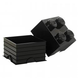 LEGO Storage Brick 4 Knobs - Black