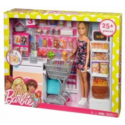 Barbie Doll and Supermarket Playset