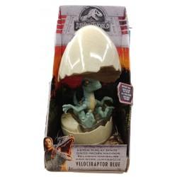 Jurassic World Hatch 'N Play Dinos Velociraptor Blue Figure