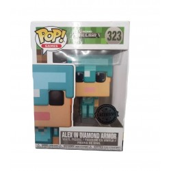 Funko Pop! Games 323: Minecraft - Alex in Diamond Armor (Exclusive)