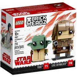 LEGO Brickheadz 41627 Luke Skywalker & Yoda