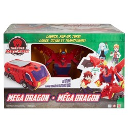 Turning Mecard Mecanimals Mega Dragon Vehicle