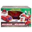 Turning Mecard Mecanimals Mega Dragon Vehicle