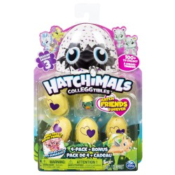Hatchimals CollEGGtibles Series 3 4 Pack + Bonus