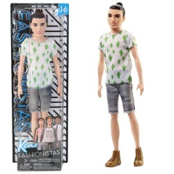 Ken Fashionistas Doll 3 Cactus Cooler - Slim