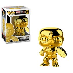 Funko Pop! Marvel 377: Marvel Studio The First 10 Years - Captain America (Gold Chrome)