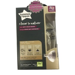 Tommee Tippee Closer To Nature 260ml Single Pack Gold Tinted Bottle