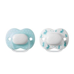 Tommee Tippee Little London Soother 0-6m - Blue (2 Pack)