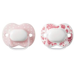Tommee Tippee Little London Soother 0-6m - Pink (2 Pack)