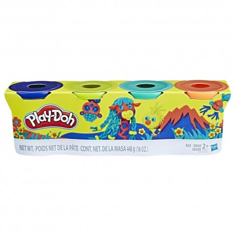 Play Doh 4-Pack - Pack Of Wild Colors