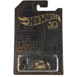 Hot Wheels 50th Anniversary Black & Gold - Bone Shaker