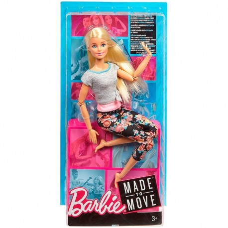 Barbie Made to Move Doll - Original with Blonde Hair