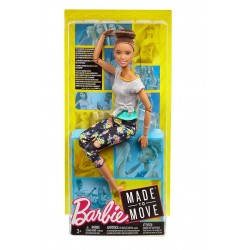 Barbie Made to Move Doll - Original with Brunette Updo