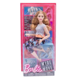 Barbie Made to Move Doll - Curvy with Auburn Hair