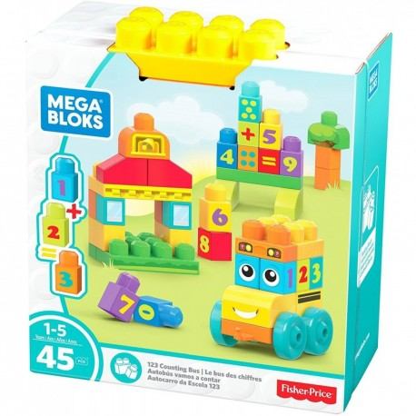 Mega Bloks Big Builders 123 Bus