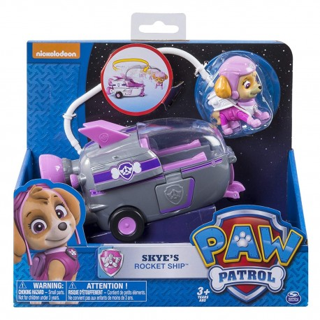 Paw Patrol Basic Vehicle W/Pup - Skye's Rocket Ship