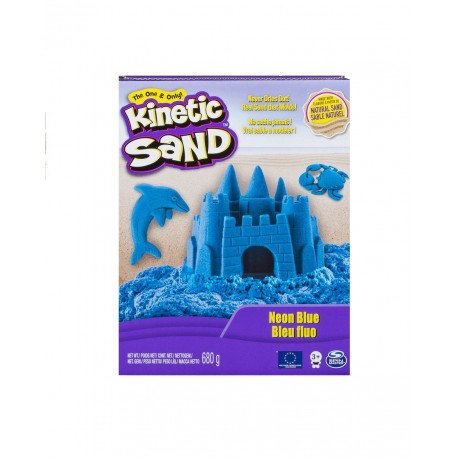 Kinetic Sand Neon Sand 1.51lb (680g) - Neon Blue