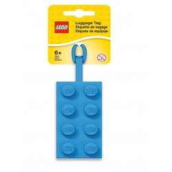 LEGO 2x4 Silicon Luggage Tag - Blue