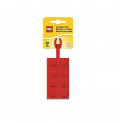 LEGO 2x4 Silicon Luggage Tag - Red