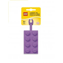 LEGO 2x4 Silicon Luggage Tag - Medium Lavender