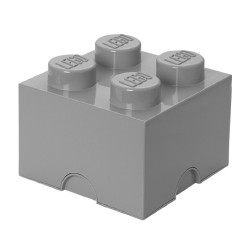 LEGO Storage Brick 4 Knobs - Medium Stone Grey