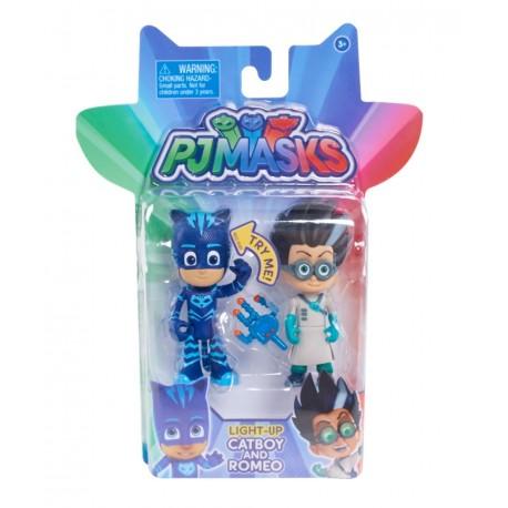 PJ Masks Light-Up Catboy and Romeo (2pk)