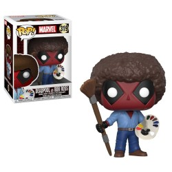 Funko Pop! Marvel 319: Deadpool - Deadpool As Bob Ross