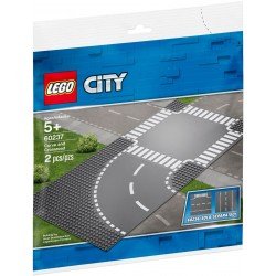LEGO City 60237 Curve and Crossroad