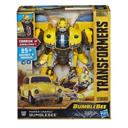 Transformers: Bumblebee Movie Toys, Power Charge Bumblebee Action Figure -Spinning Core, Lights and Sounds -