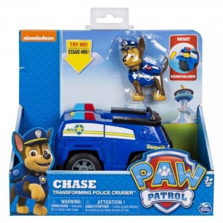 Paw Patrol Basic Vehicle W/Pup - Chase Transforming Police Cruiser