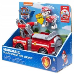 Paw Patrol Basic Vehicle W/Pup - Marshall Transforming Fire Engine