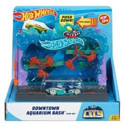 Hot Wheels City Downtown Aquarium Bash Playset