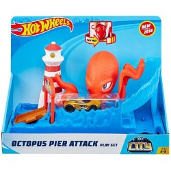 Hot Wheels City Octopus Pier Attack Playset