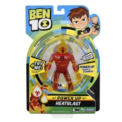 Ben 10 Power Up Deluxe Action Figure - Heatblast