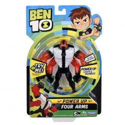 Ben 10 Power Up Deluxe Action Figure - Four Arms